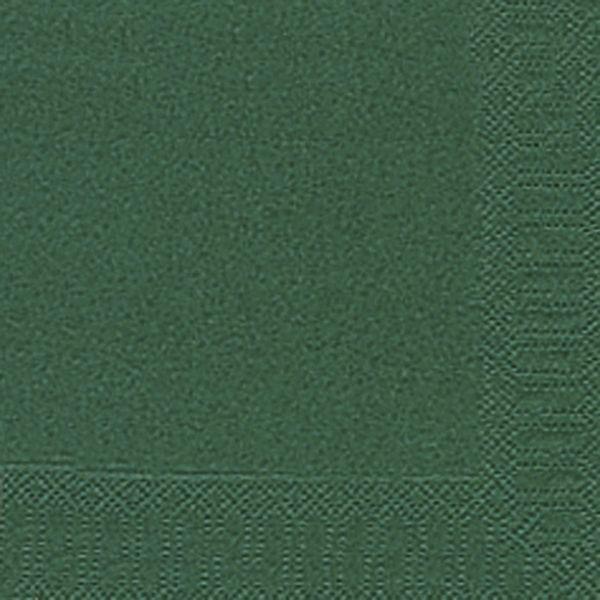 DUNI Servietten 33x33cm dunkelgrün 3-lagig 1/4-Falz 20 Stück