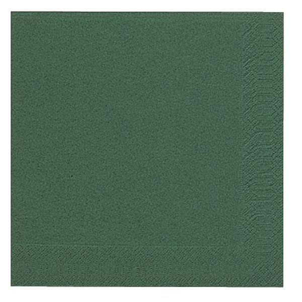DUNI Servietten 40x40cm dunkelgrün 3-lagig 1/4-Falz 20 Stück