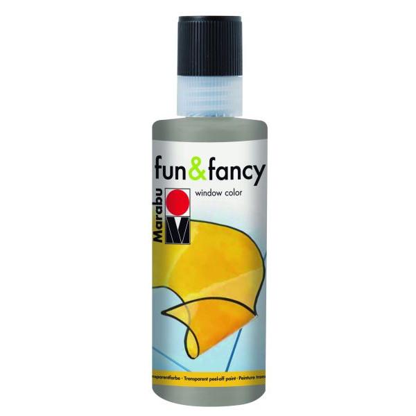 MARABU 0406 04 182 80ml Fensterfarbe Fun&Fancy silber
