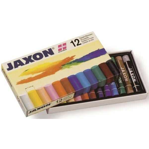 JAXON 47412 12er-Et Pastell-Ölkreide sort.