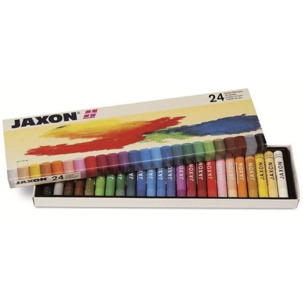 JAXON 47424 24er-Et Pastell-Ölkreide sort.