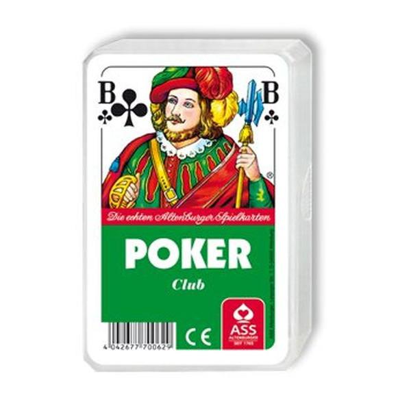 ASS Spielkarten Poker französisches Blatt Kunststoffetui