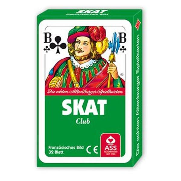 ASS Spielkarten Skat Club französisches Blatt Pappschachtel