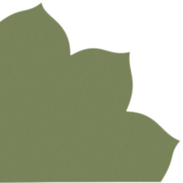 PaperStyle Japan-Serviette 709 grün Blütenform 35x35cm Dekospitze