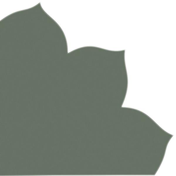PaperStyle Japan-Serviette 741 dunkelgrün Blütenform 35x35cm Dekospitze