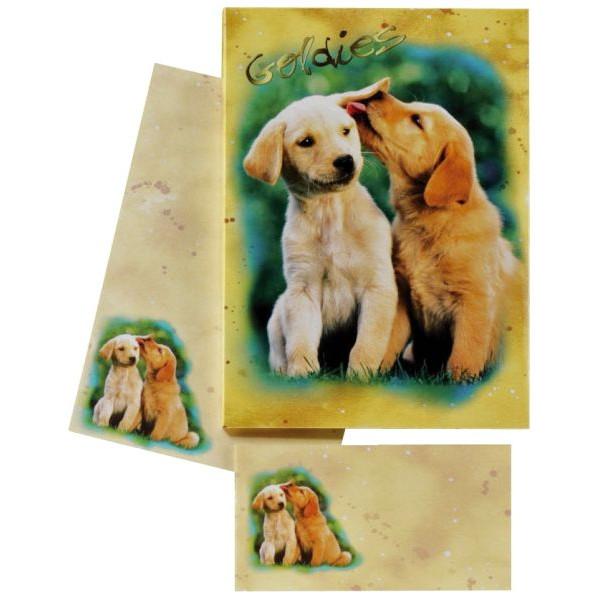 DFW 180350 Hundewelpen Briefpapier Kinder 10/10 farb.