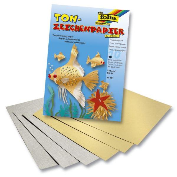 FOLIA 601 ungummiert 21x29,7cm Tonpapierblock