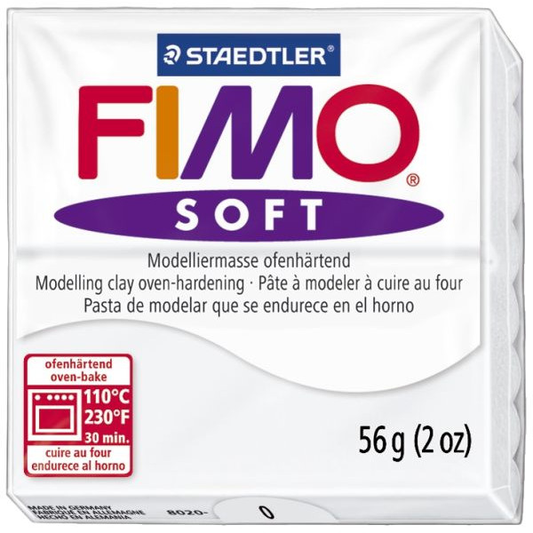 Staedtler 8020-0 Soft 56g Modelliermasse Fimo weiß