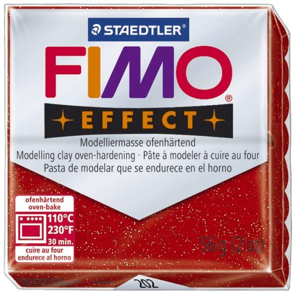 Staedtler 8020-202 Soft 56g m Modelliermasse Fimo Glitt. rot