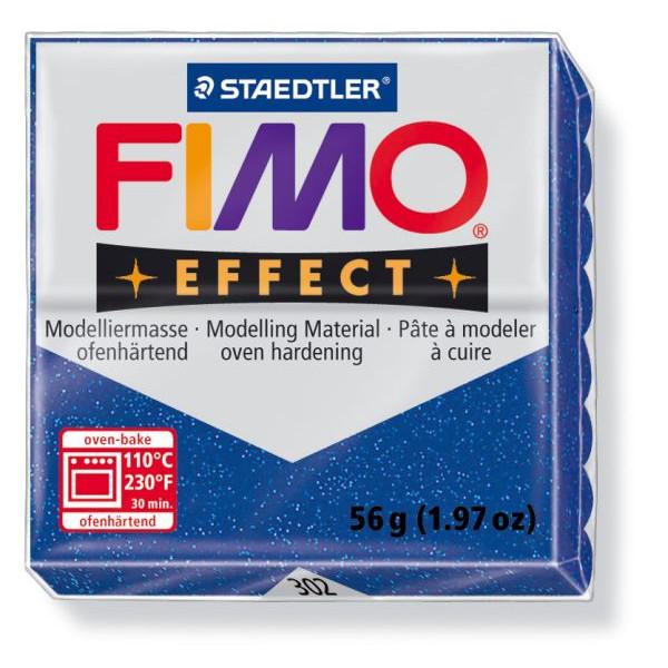 Staedtler 8020-302 Soft 56g Modelliermasse Fimo Glitt.blau
