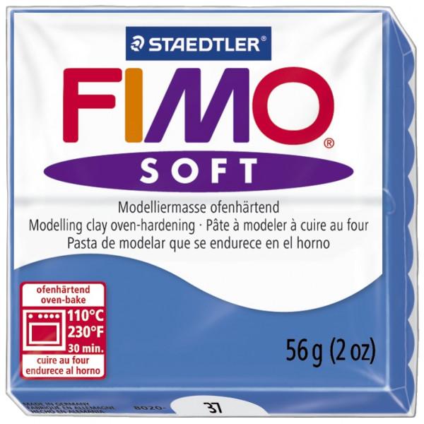 Staedtler 8020-37 Soft 56g Modelliermasse Fimo pazifikblau