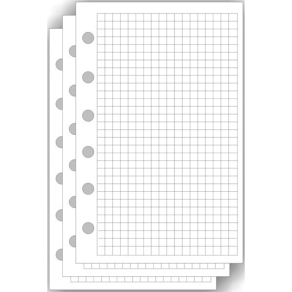 BIND 5713 50BL Papier Ersatzeinlage A7 kariert