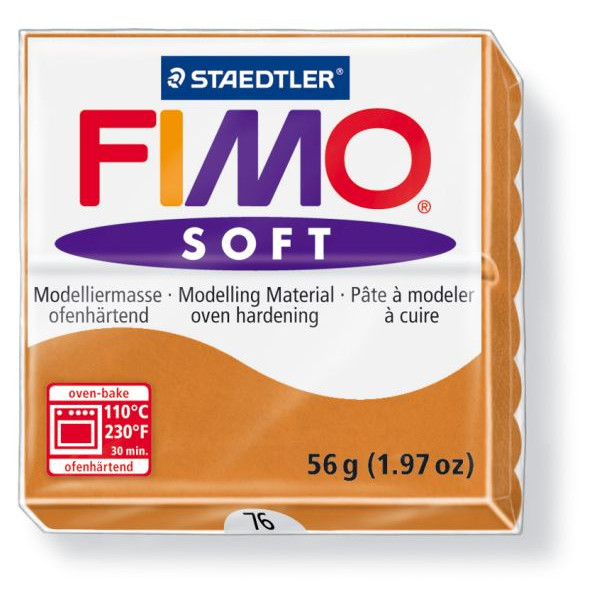 Staedtler 8020-76 Soft 56g Modelliermasse Fimo cognac