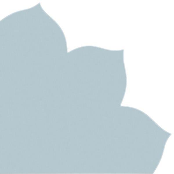 PaperStyle Japan-Serviette 703 hellblau Blütenform 35x35cm Dekospitze