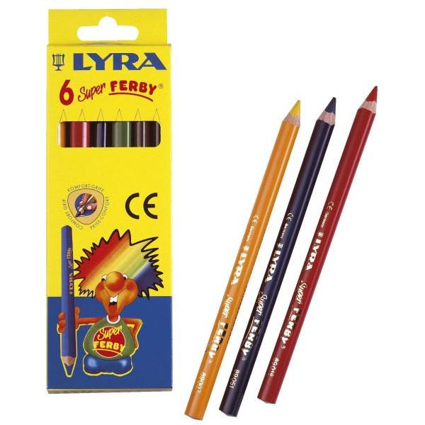 LYRA Buntstifte Super-Ferby 6-farbig sortiert