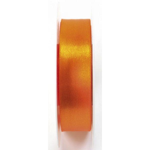GOLDINA Geschenkband Doppelsatinband 25mm x 25m orange