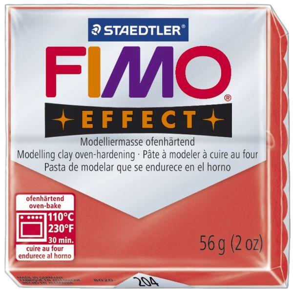 Staedtler Fimo Effect 8020-204 Modelliermasse 57g transparentrot