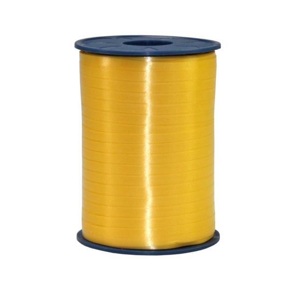 PRÄSENT Geschenkband Ringelband 5mm x 500m gelb