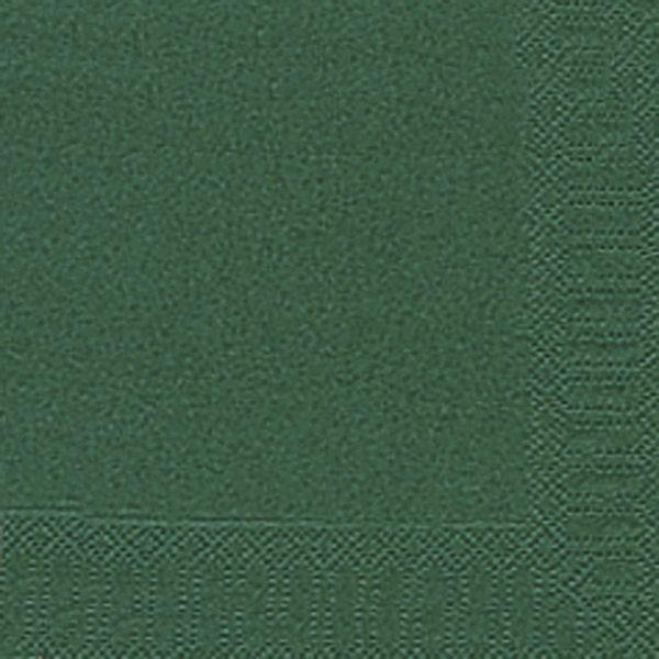 DUNI Servietten 24x24cm dunkelgrün 3-lagig 1/4-Falz 20 Stück