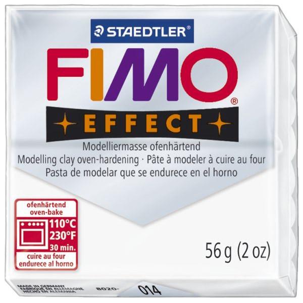 Staedtler 8020-014 Soft 56g Modelliermasse Fimo weiß transparent