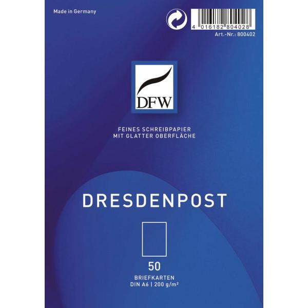 DFW 800402 Briefkarte A6 DresdenPost 50ST