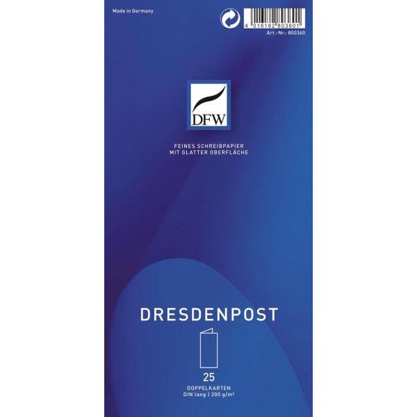 DFW 800360 Dresden Post Briefkarte dopp. DL hoch 25ST