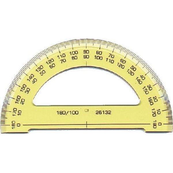 KOH-I-NOOR SEEHAUS 746168 Kunstst.10cm Winkelmesser 180° (Halb)
