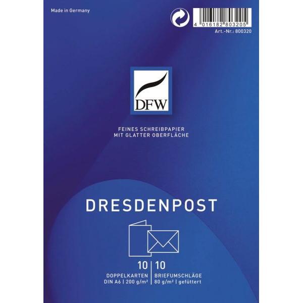 DFW DRESDNER 800320 A6 10/10 Briefpapier Karte Dresden Post