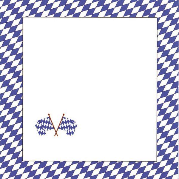 Sü-Verlag 044077B Tischkarte 10ST bayrisch Raute