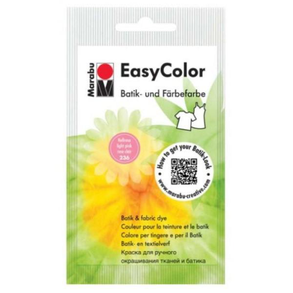 MARABU Batik- und Färbefarbe Easy Color 1735 22 236, hellrosa, 25g