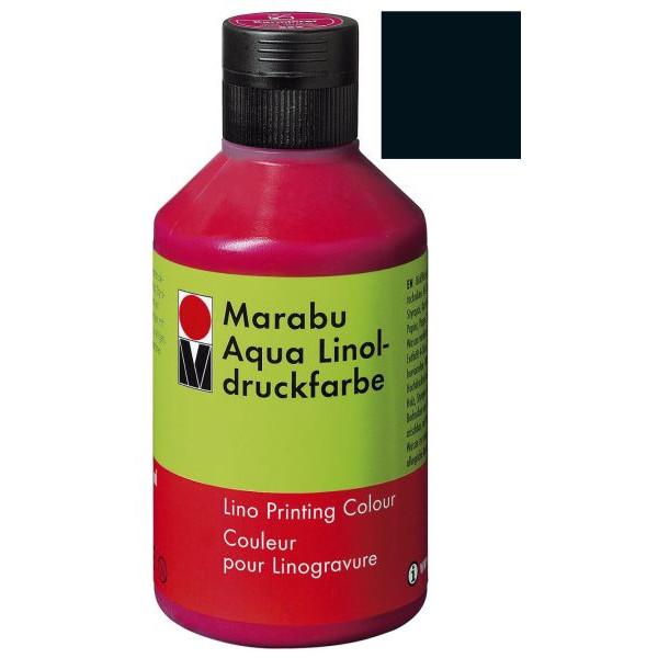 MARABU 1510 13 073 250ml Linoldruckfarbe Aqua schwarz