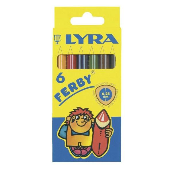 LYRA Buntstifte Ferby 6-farbig sortiert