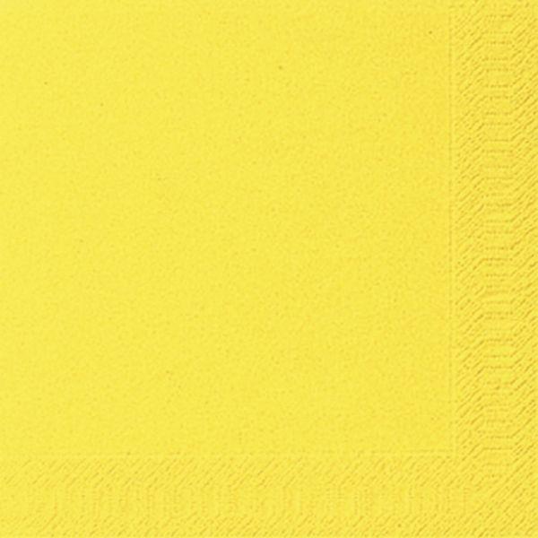 DUNI Servietten 33x33cm gelb 3-lagig 1/4-Falz 20 Stück