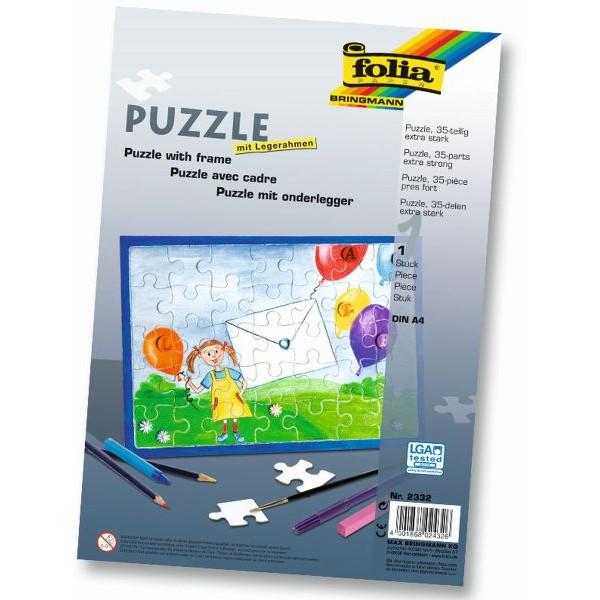 FOLIA 2332 A4 m.Rahmen Puzzle 35tlg.blanko weiß