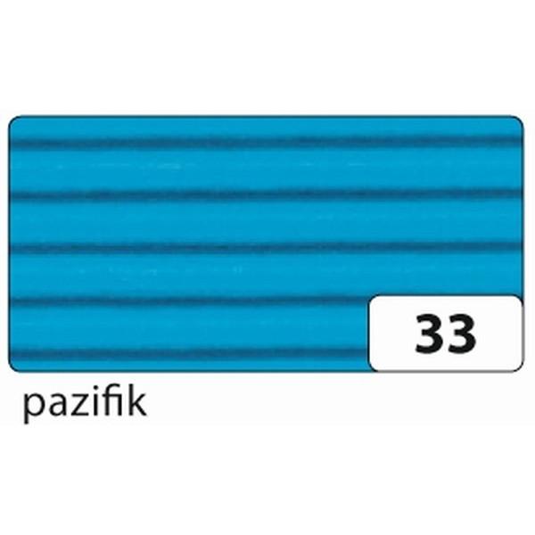 FOLIA 741033 50x70cm Bastelwellpappe pazifikblau