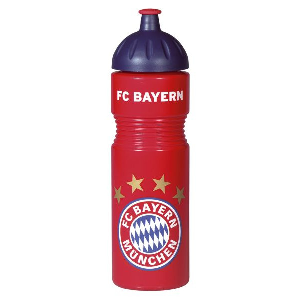 Fc Bayern Trinkflasche 750ml mit Logo rot/weiß