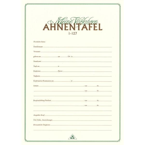 RNK Ahnentafel 2801 A2 1-127 f.7Generat