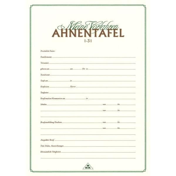 RNK Ahnentafel 2800 1-31 A3.A4