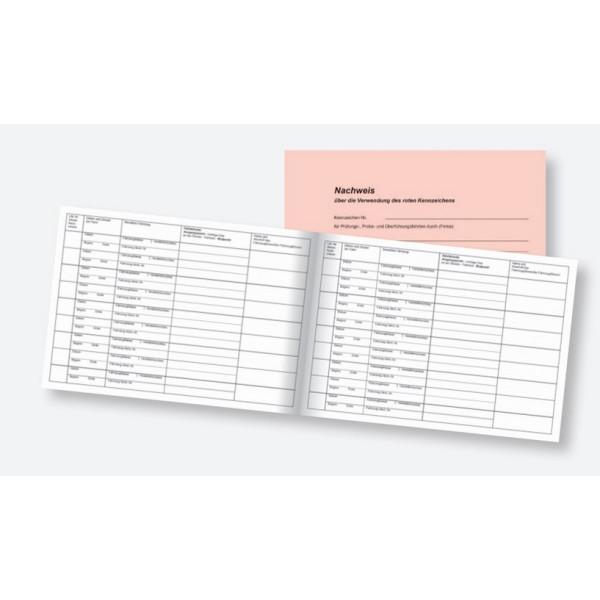 RNK 3117 Nachweisbuch Rote Kennzeichen