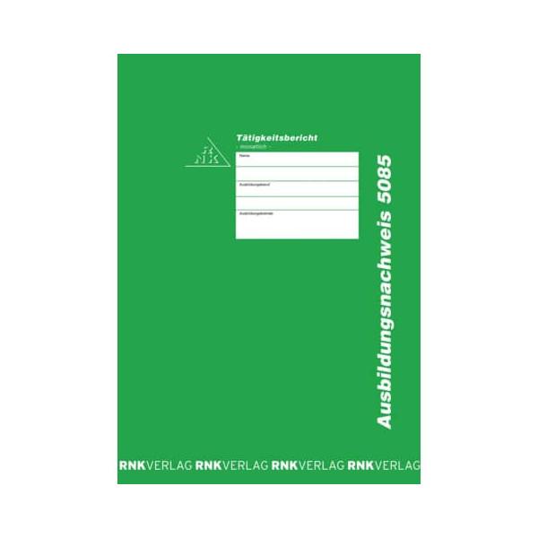 RNK monatliche Eintragung 5085 Berichtsheft A4 24Bl. fuer
