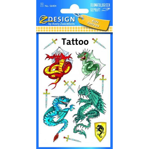 Zweckform 56404 1Bl Tattoo Drachen farbig