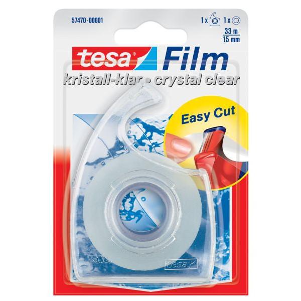 TESA FILM 57470-00001-01 15mm 33m Handabroller +1Rl kristallklar