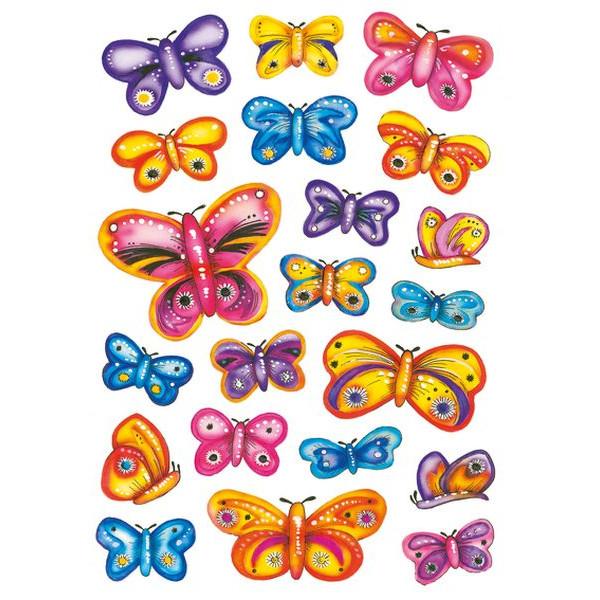 HERMA 3441 Schmucketikett Schmetterling