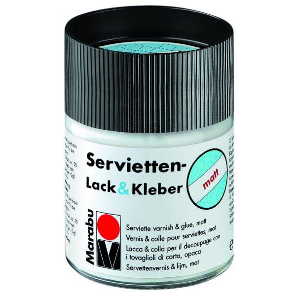 MARABU Servietten-Lack & Kleber - matt Decoupage & Serviette 1140 05 843, farblos, 50ml