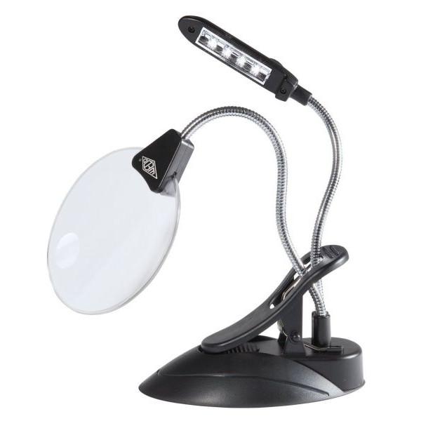 WEDO 271 75201 12,5 cm Lupenlampe mit LED schwarz