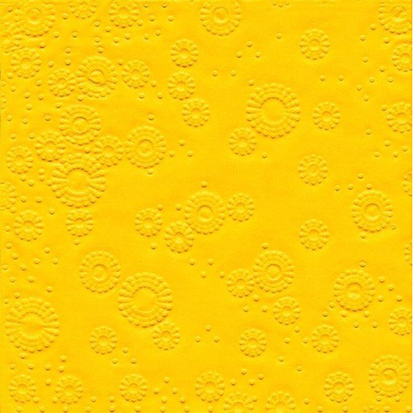 PAPER+DESIGN 24012 33 cm Serviette Zelltuch gelb
