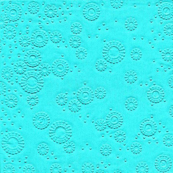 PAPER+DESIGN 24014 33 cm Serviette Zelltuch aqua