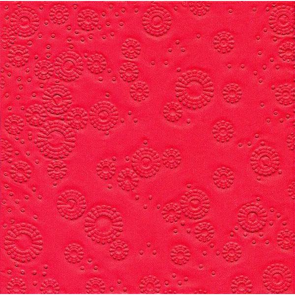 PAPER+DESIGN 24017 33 cm Serviette Zelltuch rot