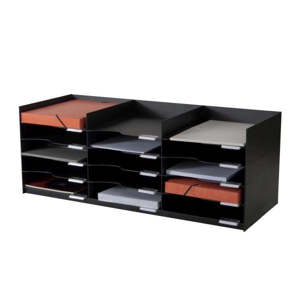 PAPERFLOW 535.01 15 Fächer Sortierablage schwarz