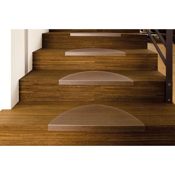 RS OFFICE PRODUCTS Treppe-6026 Treppenstufenmatte halbrund transparent